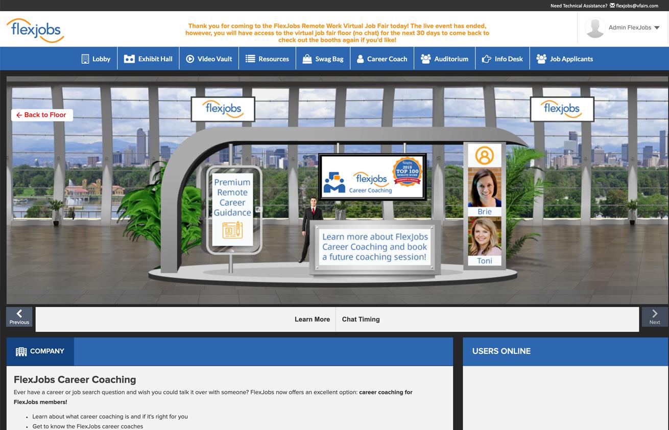 FlexJobs Remote Work Virtual Job Fair